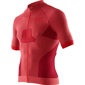 X-Bionic Race EVO Biking Jersey SS Men, dark red/red